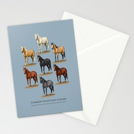 Horse Common Solid Coat Colors Chart Stationery Cards