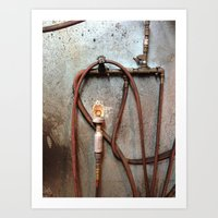 tool Art Prints featuring TIRE TOOL by Dan Brennan
