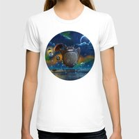 studio ghibli T-shirts featuring Studio Ghibli: My Neighbour Totoros by Laurence Andrew Page Illustrator