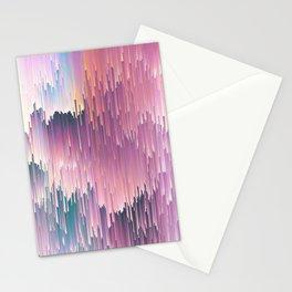 Rainbow Glitches Stationery Cards