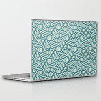 hokusai Laptop & iPad Skins featuring Hokusai - Aquos 5 by Mauricio Cosío