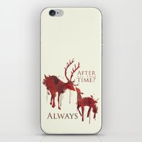 snape iPhone & iPod Skins featuring Always by Rose's Creation