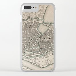 19th Century Topographical Vintage Antique Map Hamburg Germany Steampunk Clear iPhone Case