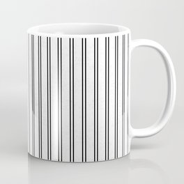 Vertical Lines and Cracked Coffee Mug