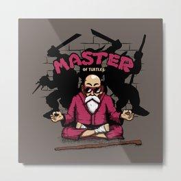 Master of Turtles Metal Print