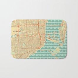 Miami Map Retro Bath Mat