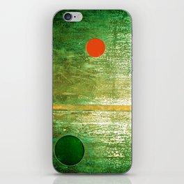 Metallic Face (Green Version) iPhone Skin
