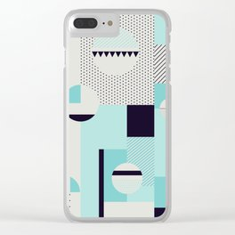 Picnic on the beach Clear iPhone Case