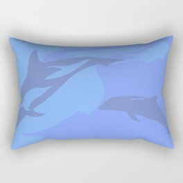 Dolphin Background Rectangular Pillow