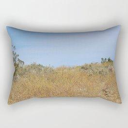 Fields of Golden Wildflowers Coachella Valley Wildlife Preserve Rectangular Pillow