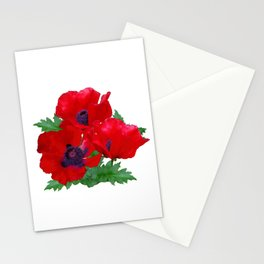 Red oriental poppies Stationery Cards