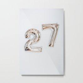 27 Metal Print