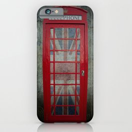 Call Me Red Telephone Box iPhone Case