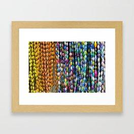 Market Beads Framed Art Print