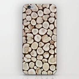 Background of wooden slices tree iPhone Skin
