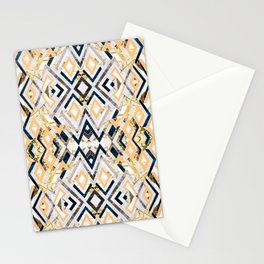 3dimensional marbled geometry pattern I Stationery Cards