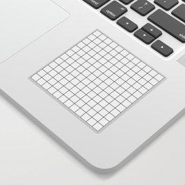 Grid Simple Line White Minimalist Sticker