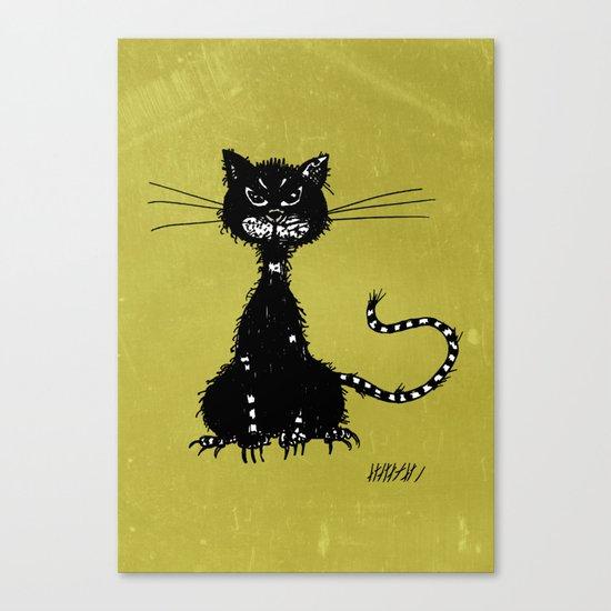 Ragged Evil Black Cat Canvas Print