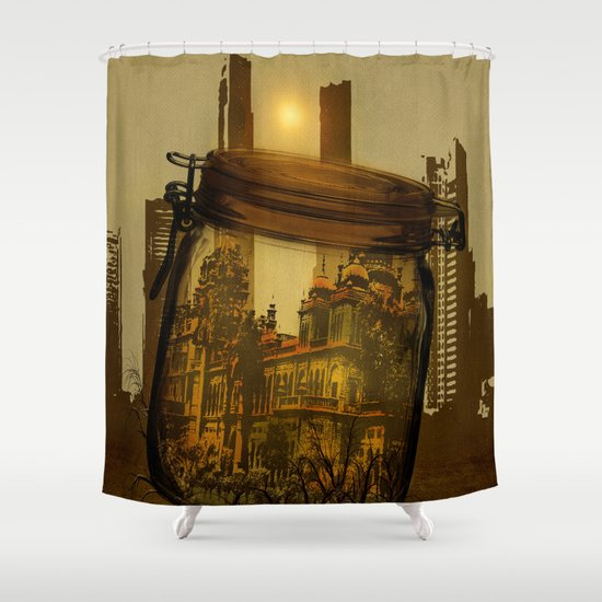 The last vintage city. Shower Curtain