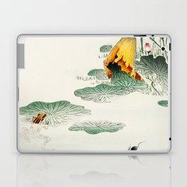 Frog in the swamp  - Vintage Japanese Woodblock Print Art Laptop & iPad Skin