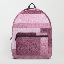 Pink Squared Backpack