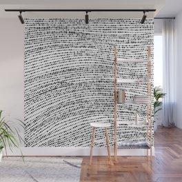 Little black dots  pattern  Wall Mural