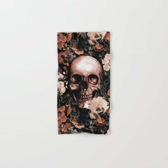 SKULL AND FLOWERS II Hand & Bath Towel