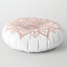 New Rose Gold Mandala Floor Pillow