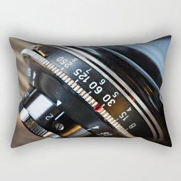 Retro photo camera lens Rectangular Pillow
