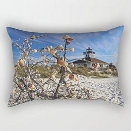 Sitting Seaside Rectangular Pillow