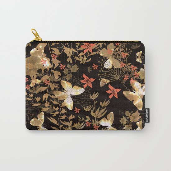 Golden butterfly in the night. Carry-All Pouch