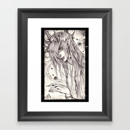 horns Framed Art Print