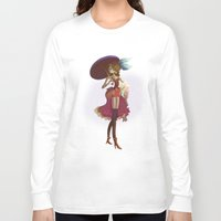 pin up Long Sleeve T-shirts featuring Pin up by paul drouin