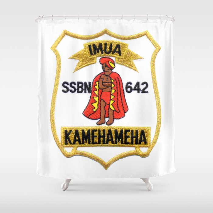 USS KAMEHAMEHA (SSBN-642) PATCH Shower Curtain by militarygifts