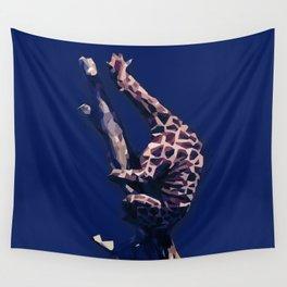 Blue Giraffe In The Tree ?! Wall Tapestry