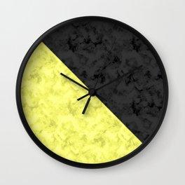 Black , yellow , lemon Wall Clock