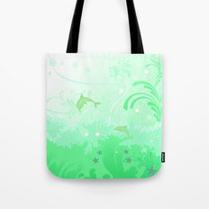 Dolphins Swimming Tote Bag