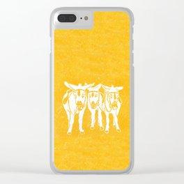 Seaside Donkeys in Yellow Clear iPhone Case