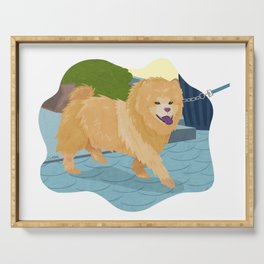 Chow Chow Dog Art Illustration Serving Tray