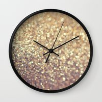 cafe Wall Clocks featuring Cafe Latte by Lisa Argyropoulos