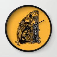 celtic Wall Clocks featuring celtic by Julia Menshikova