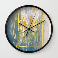 reggae Wall Clocks featuring kinky reggae by amy darlene