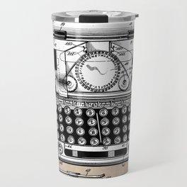 patent art typewriter Travel Mug