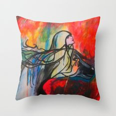 Chasing The Rain Throw Pillow
