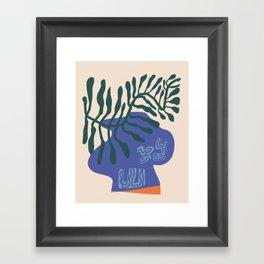Greek vase with fern Framed Art Print