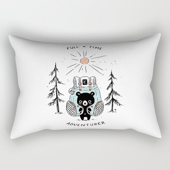 Adventure Bear Rectangular Pillow