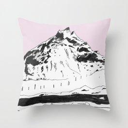 a mountain Throw Pillow