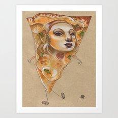 PIZZA LADY Art Print