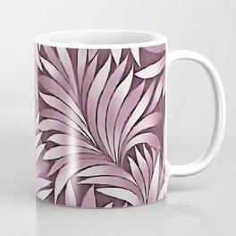 Ornamental Leaves In Pastel Eggplant Hues Coffee Mug