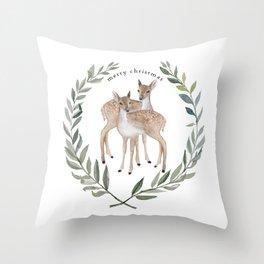 Fawn duo Throw Pillow